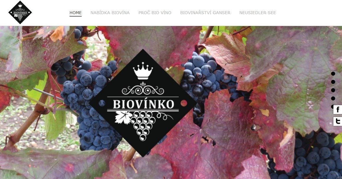 Webové stránky s eshopem Biovínko