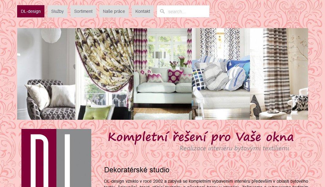Webové stránky DL design Praha