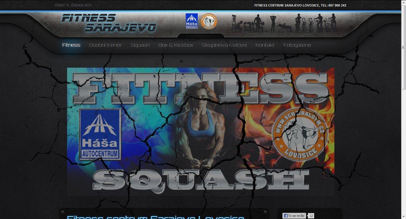 Webové stránky Fitness Sarajevo Lovosice