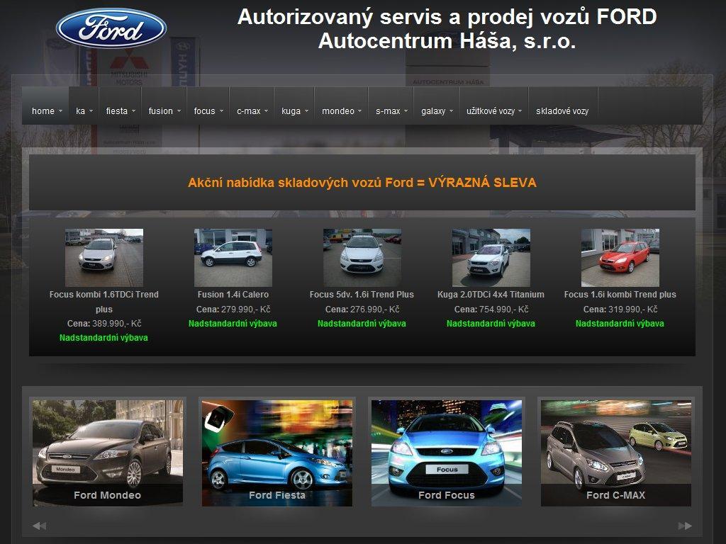 Webové stránky Ford Autocentrum Háša