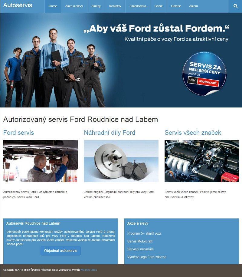 Autorizovaný servis Ford Šindelář