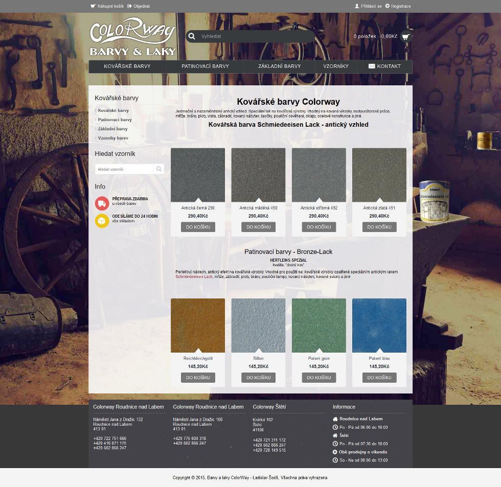 Eshop - prodej kovářských barev