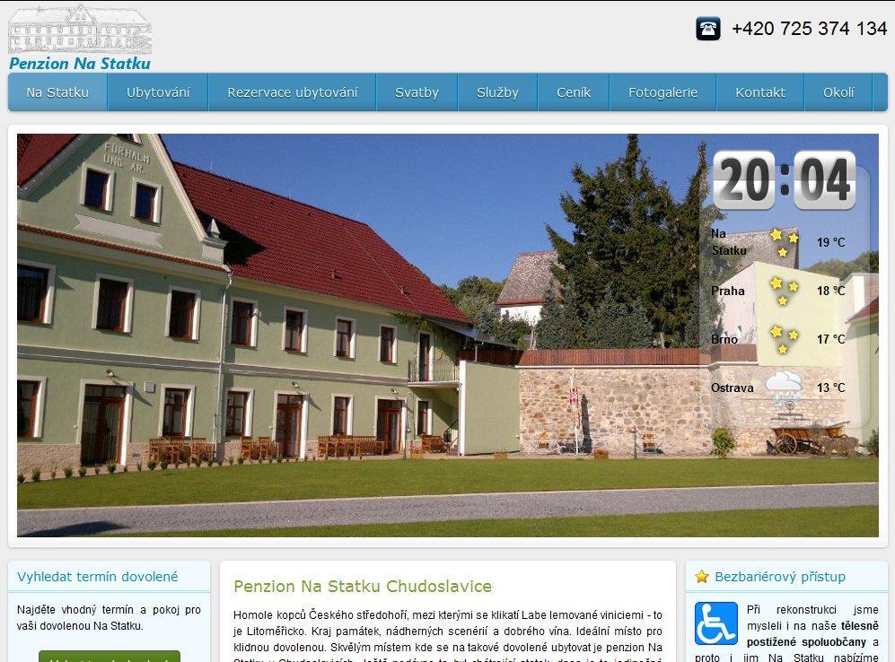 Web Penzion Na Statku Chudoslavice