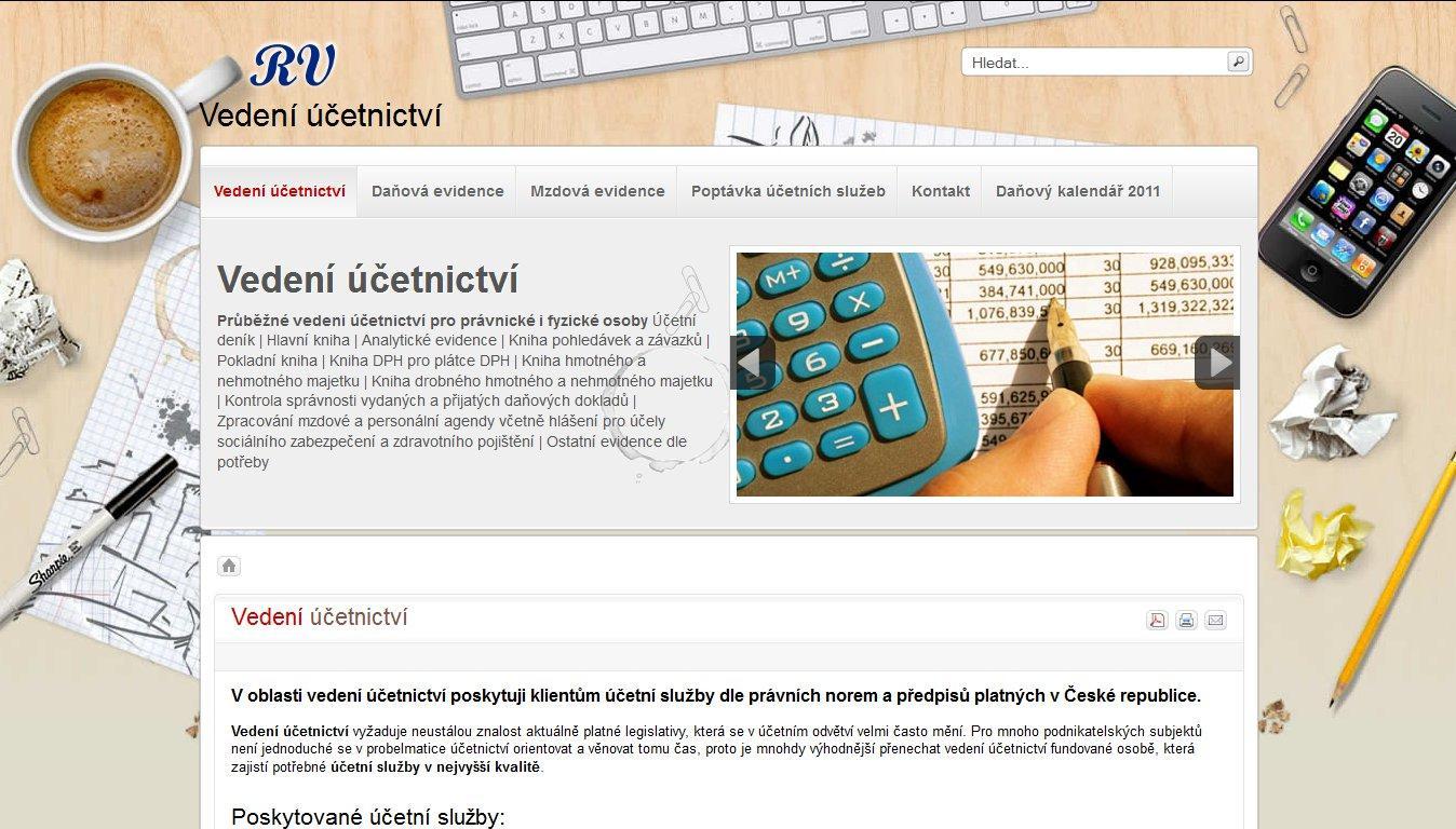 Web Mgr. Renáta Vlčková - účetní služby