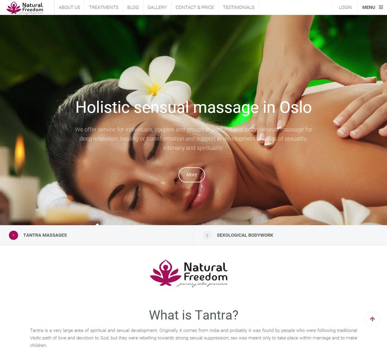 Webové stránky Tantra massages Oslo